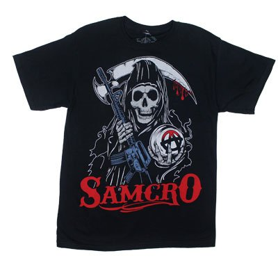 Stylized Reaper - Sons Of Anarchy T-shirt: Adult 3XL - Black