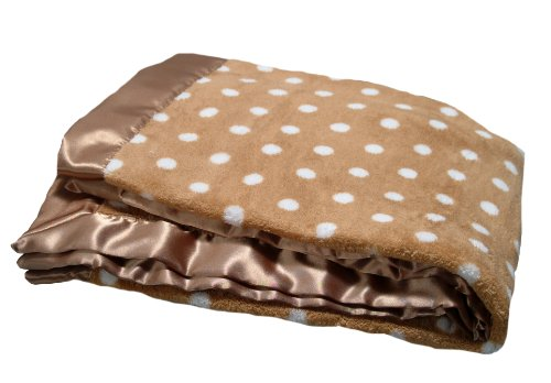 Pickles Bubbles Polka Dot Baby Blanket, Brown - 1