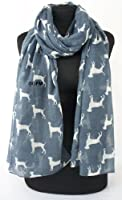 GFM Labrador Dogs Print Scarf - Retriever - Dog Large Size - Soft Scarf Wrap All Seasons Scarf