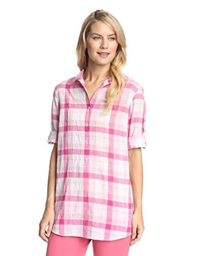 J. McLaughlin Women's Wren Puckered Plaid Shirt