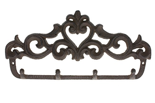 Decorative Cast Iron Wall Hook Rack | Vintage Design Hanger
