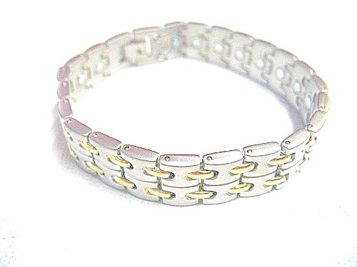 Powerful Magnetic Stainless Steel Link Bracelet for Arthritis and Golf Sport Aches and Pains