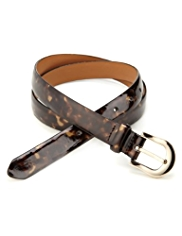 M&S Collection Animal Print Square Buckle Belt
