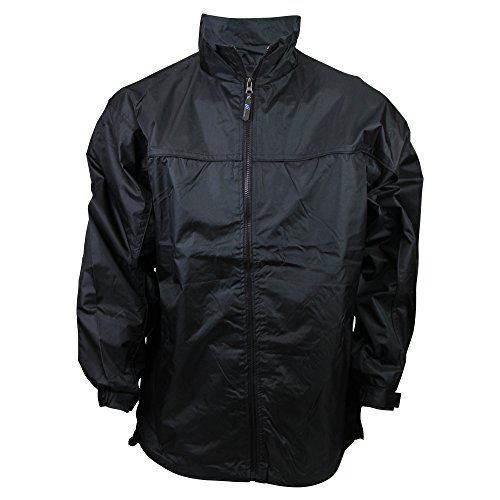 Apparel No. 5 Men's Lightweight Windbreaker Jacket,Large,Black