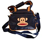 PAUL FRANK Small shoulder bag blue monkey - Size: 30.3 x 22.5 cm - 100% Vinyl