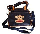 PAUL FRANK Small shoulder bag blue monkey - Size: 30.3 x 22.5 cm - 100% Vinyl