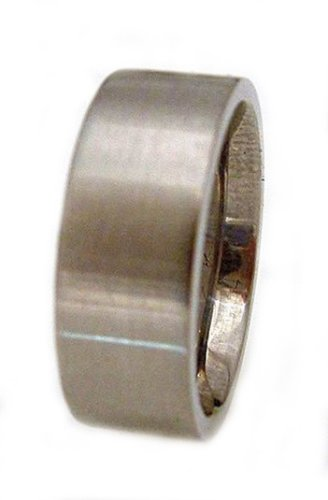 Titanium Ring Flat Brushed Soft Edge Ring # 28. Please provide size, width and finish at checkout.