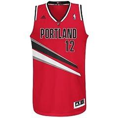 NBA Portland Trailblazers Red Swingman Jersey LaMarcus Aldridge #12 by adidas