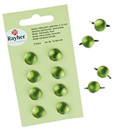 Rayher - 79568426 - tachuelas, de peluche, consumió, diámetro 12 mm, SB-tarjeta 8 pcs, cocina