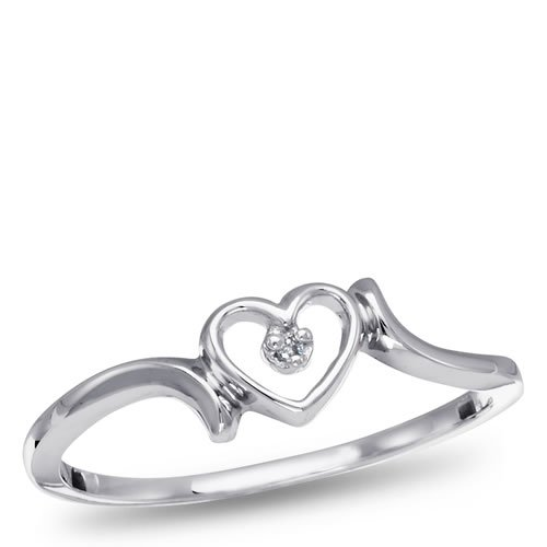 Sterling Silver and Diamond Promise Ring