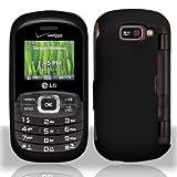 Black Hard Plastic Rubberized Case Cover for LG Octane VN530