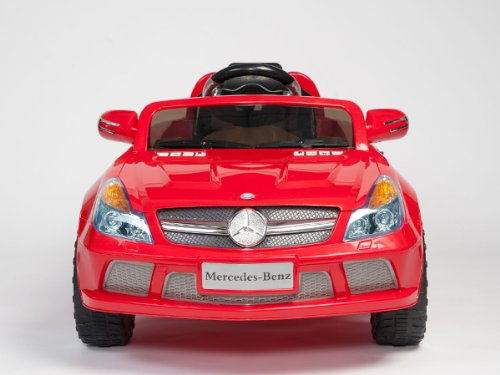 New Under Mercedes License Model Red Color Kids Ride-On Power Electric Radio Remote Control Mercedes With Mp3 Function Toy Car Upgrade With 2 Motors 2 Battery 2014