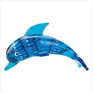 Art Glass Dolphin Figurine