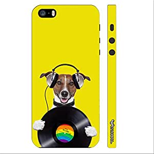 Apple IPhone 5/5S DOG RECORD designer mobile hard shell case by Enthopia