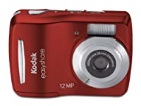 Kodak Easyshare C1505 12 MP Digital Camera with 5x Digital Zoom - Red by Kodak