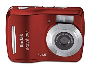Kodak Easyshare C1505 12 MP Digital Camera with 5x Digital Zoom - Red