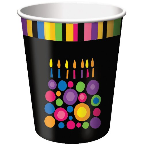 Birthday Cake Dots 9oz Cups