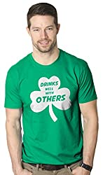 Drinks Well With Other Tee Funny Saint Patricks Day T Shirt from Crazy Dog