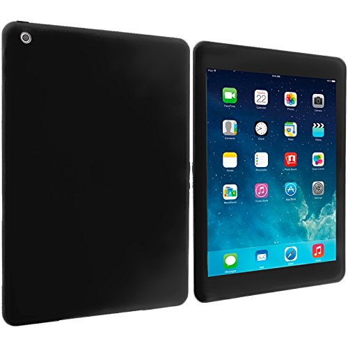 Cell Accessories For Less (Tm) Black Silicone Soft Skin Case Cover For Apple Ipad Air - By Thetargetbuys front-922404