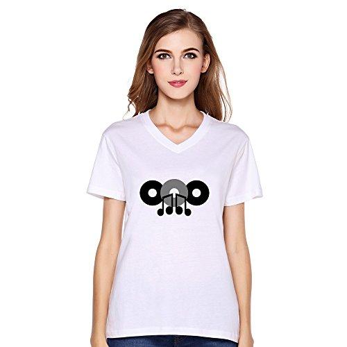 Music Note 3 Cds Slim Fit Women Custom Shirts White