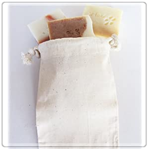 "Cotton Muslin Bags Wedding Gift Bags 3x4"" inch ($.35 each) Pack of 24"