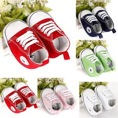 [F.N.K Baby Canvas Shoes Kids Soft Sneakers Boys Girls Infant toddler Moccasins (Size 12)] (Red Octopus Pajama Costumes)