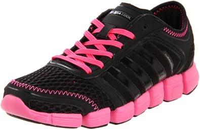 adidas Women's CC Oscillation Running Shoe,Black/Black/Ultra Pop,5.5 M US