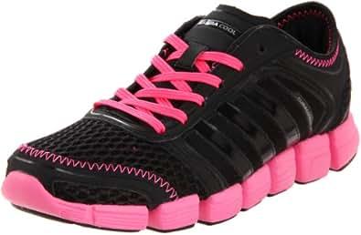 adidas Women's CC Oscillation Running Shoe,Black/Black/Ultra Pop,6 M US