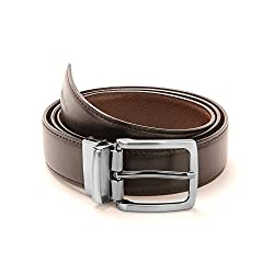 Spairow Mens reversible Black leather Belt (PBL-02)