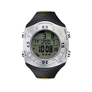 National Geographic Men's Divermaster Depth Gauge Temperature Watch #NG705GWSK