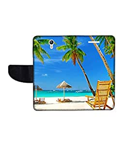 KolorEdge Printed Flip Cover For Lenovo S1 Multicolor - (1478-50KeMLogo11035LenovoS1)