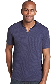 Pure Cotton Notched Neck T-Shirt with StayNEW™