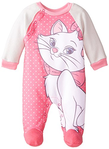 Disney Baby-Girls Newborn Marie Arista Cats Fleece Coverall, Pink, 0-3 Months