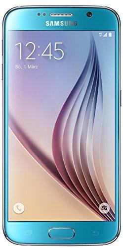 Samsung Galaxy S6 Smartphone (5,1 Zoll (12,9 cm) Touch-Display, 32 GB Speicher, Android 5.0) blau (Nur für Europäische SIM-Karte)