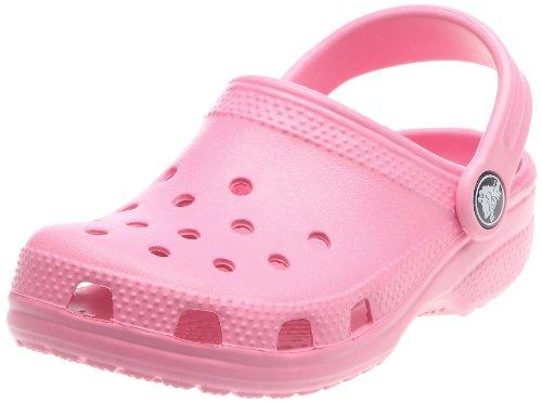 Crocs Classic Sabot K Zoccoli e Sabot, Unisex Bambino, Rosa (Pink Lemonade 669), 33-34 IT (33-34 EU)