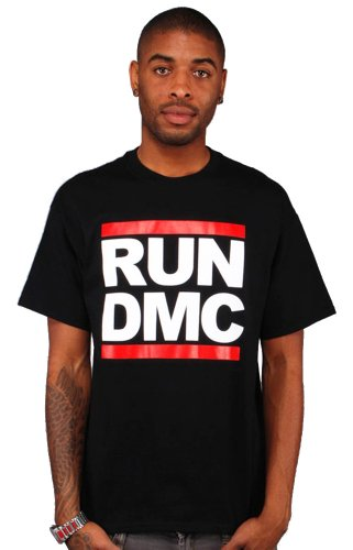 Artist Merch RUN-DMC, Logo T-Shirt, Black, X-Large