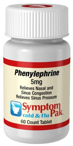 SymptomPaK Phenylephrine, 5 mg, 60-count Bottles (Pack of 2)