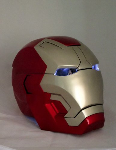 Iron Man Mark 42 Cosplay Helmet 1/1 Scale Unopen Face