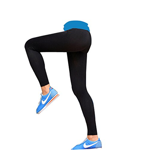 Glield Leggings Donna Sport, Pantaloni Jogging Lunghi per Donna con Effetto Compressivo, Slim Fit YGK02 (blu, L)