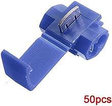 Comprar SODIAL(R) Terminales de cables 50pcs rapida Splice Conectores Lock Crimp electrica electrica - Azul