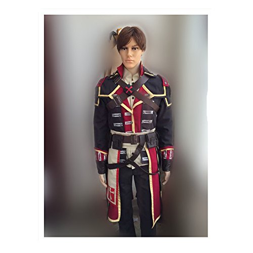 Cos-me Assassin's Costumes Creed: Rogue Cosplay Costume Uniform