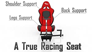 Openwheeler Advanced Racing Seat Driving Simulator Gaming Chair with Gear Shifter Mount