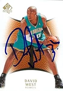 David West Autographed Hand Signed Basketball Card (New Orleans Hornets) 2008 Upper... by Hall+of+Fame+Memorabilia