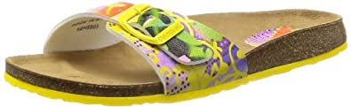 Desigual Women's BEACH BIO 1 Flip Flop,Bright Yellow,37 BR/6-6.5 M US