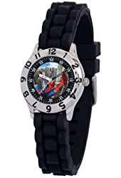 Marvel Kid's MA0103-D2788-BlackRubber Marvel Spider-Man Classic Time Teacher Watch