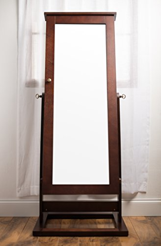 Hives and Honey Cheval Jewelry Armoire and Mirror