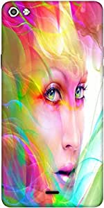 Snoogg Colorful Hair Woman 2769 Designer Protective Back Case Cover For Micromax Canvas Silver 5 Q450