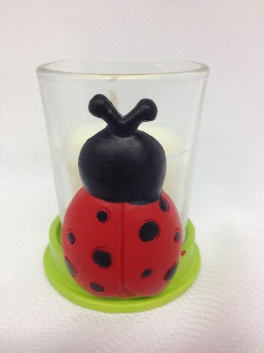 5 Lady Bug Baby Shower Or Birthday Candle Favors front-625328