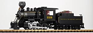 Piko G Scale Model Trains - D&rgw Mogul Locomotive Wood Burner With Tender & Sound - 38214 from PIKO