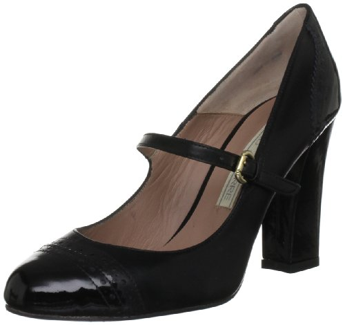 Pied A Terre Women's Adelia Black Mary Janes 6 UK